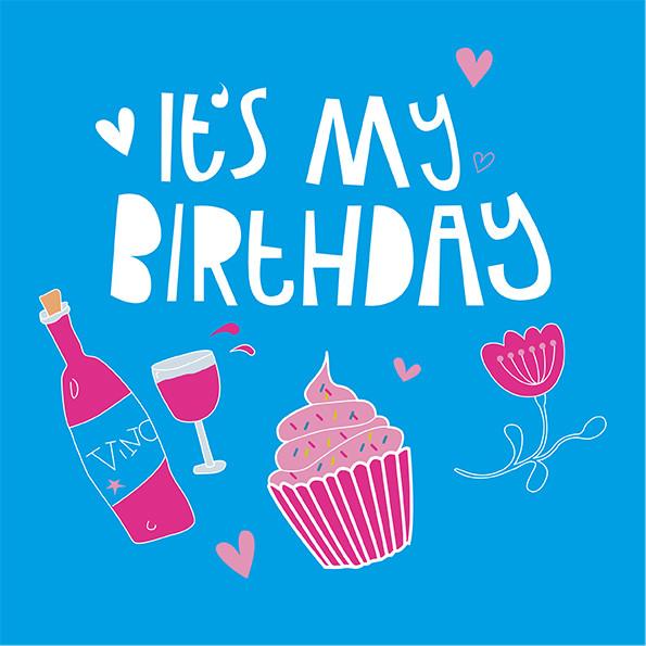 Its my Birthday lllustration