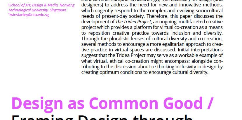 Published paper: Designing for Cultural Diversity