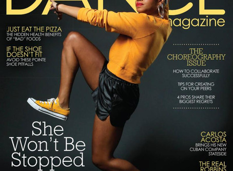 Camille A. Brown on the cover of Dance Mag!