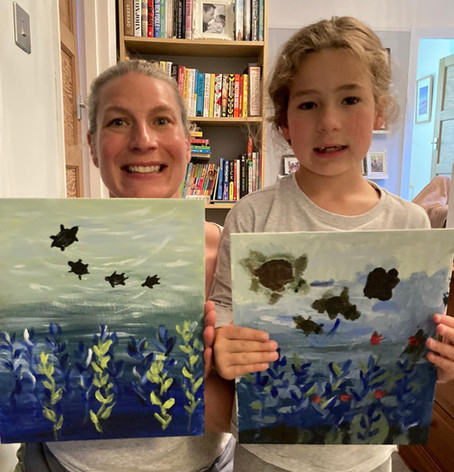 Budding Monet's Revealed at Online Painting Class