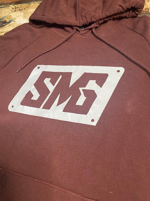 Maroon & Silver SMG Hoodie