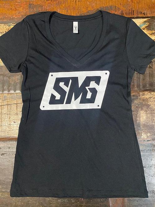 Black V Neck SMG Shirt