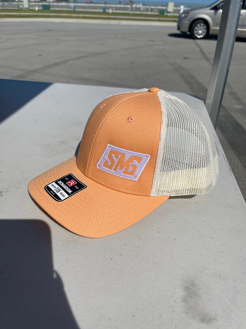 Sherbet and white SMG Snapback