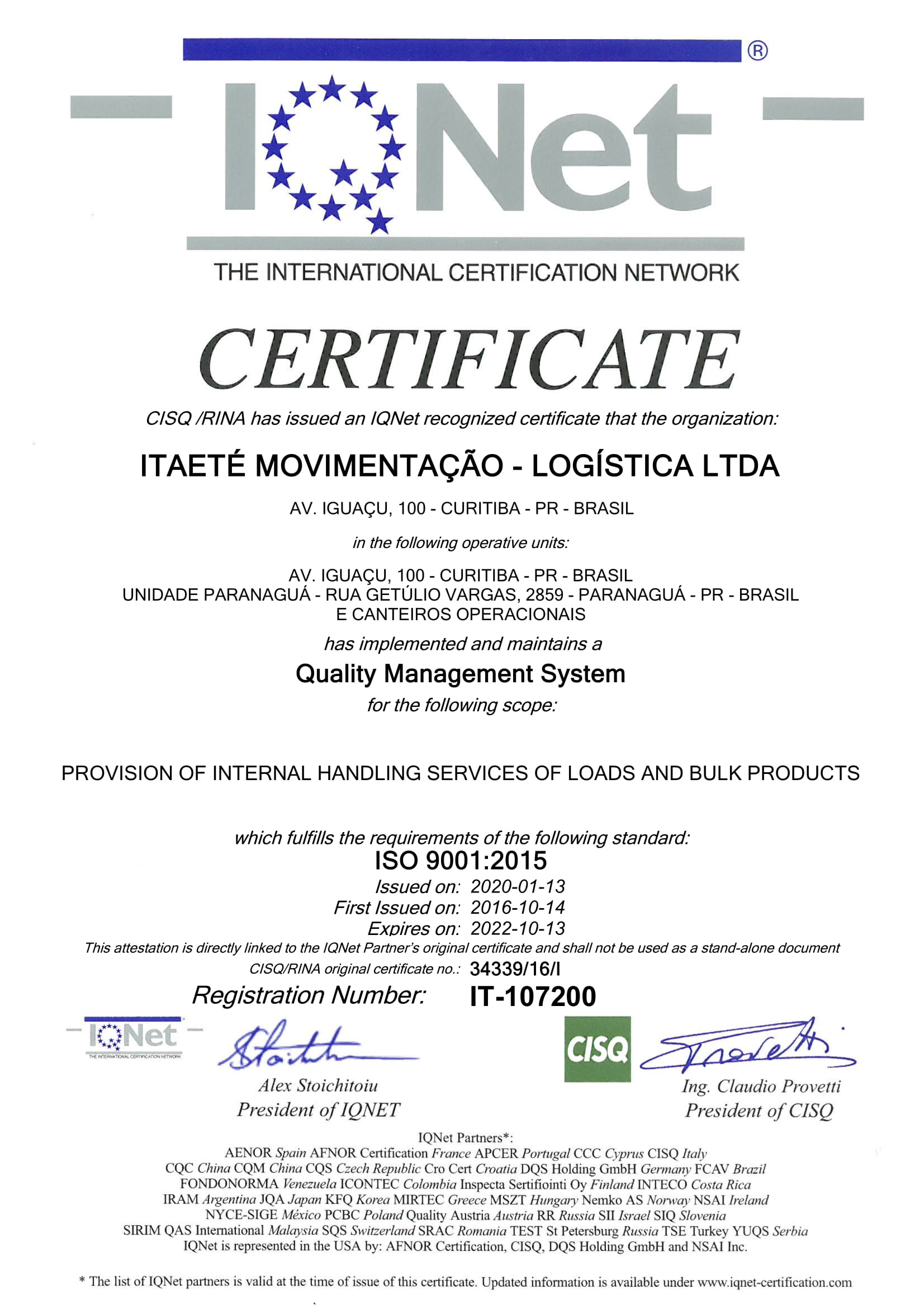 ISO 90012015  IQNET-1