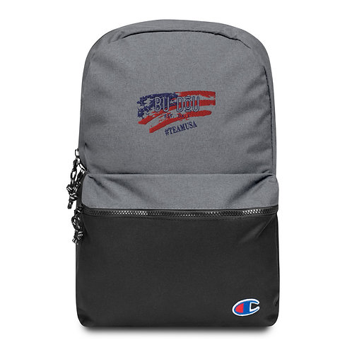 BU DOU USA Embroidered Champion Backpack