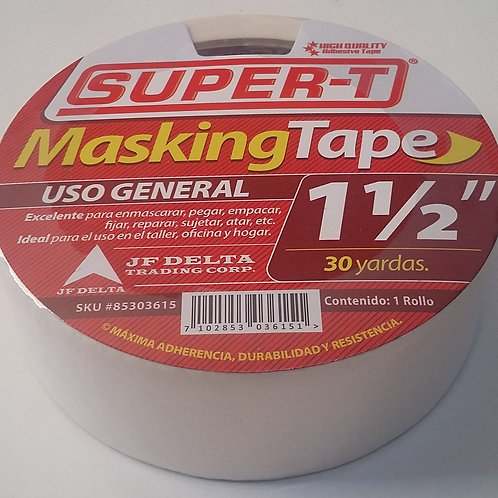 MASKING TAPE DE 1 1/2 X 30 YDS SUPER T