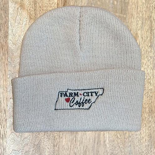 Monogramed Farm City Coffee Beanie