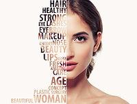 Beautiful woman portrait beauty skincare