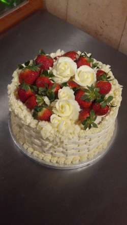 Strawberry Lattice Cake