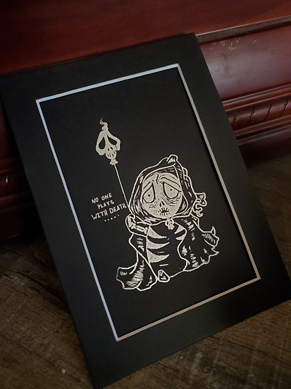 Baby death mini foil print.