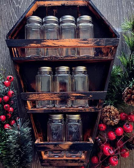Coffin Spice Rack