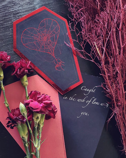 The Web of Love Valentine's Day Card Set ( 5 Cards)