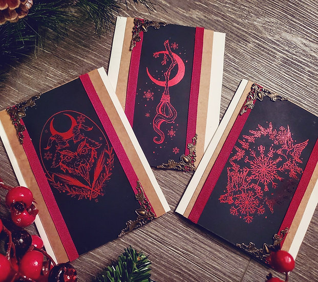Yule card pack of 6