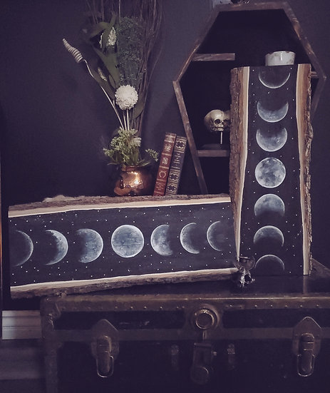 Moon phase wall plaque