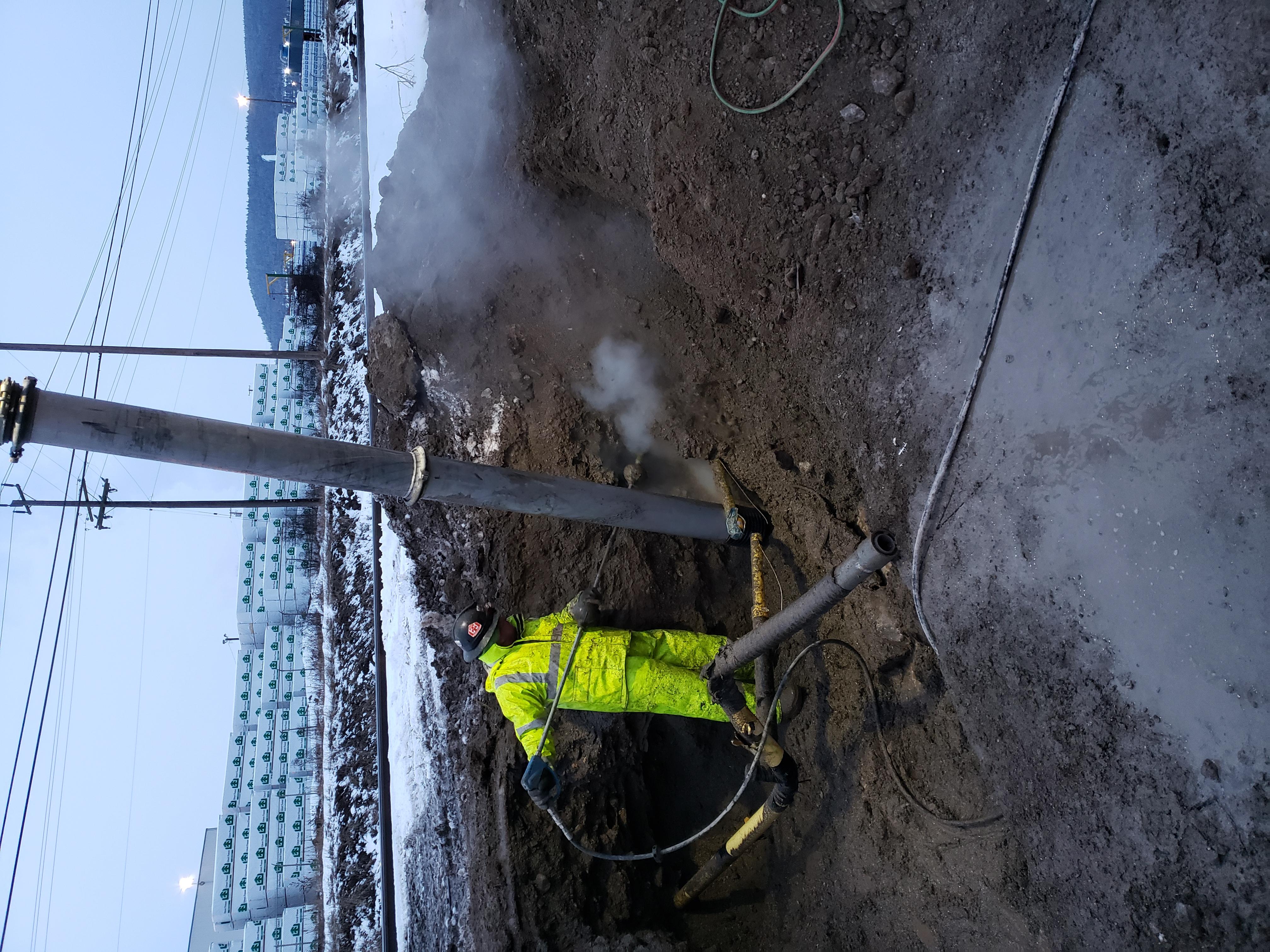 Frozen HydroVac Excavation Williams