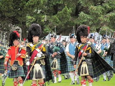 Highland Games Dufftown. Pipe Majors