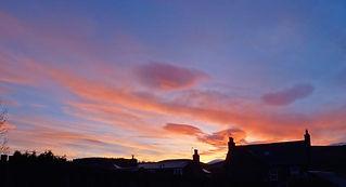 Wonderful sunset in Dufftown