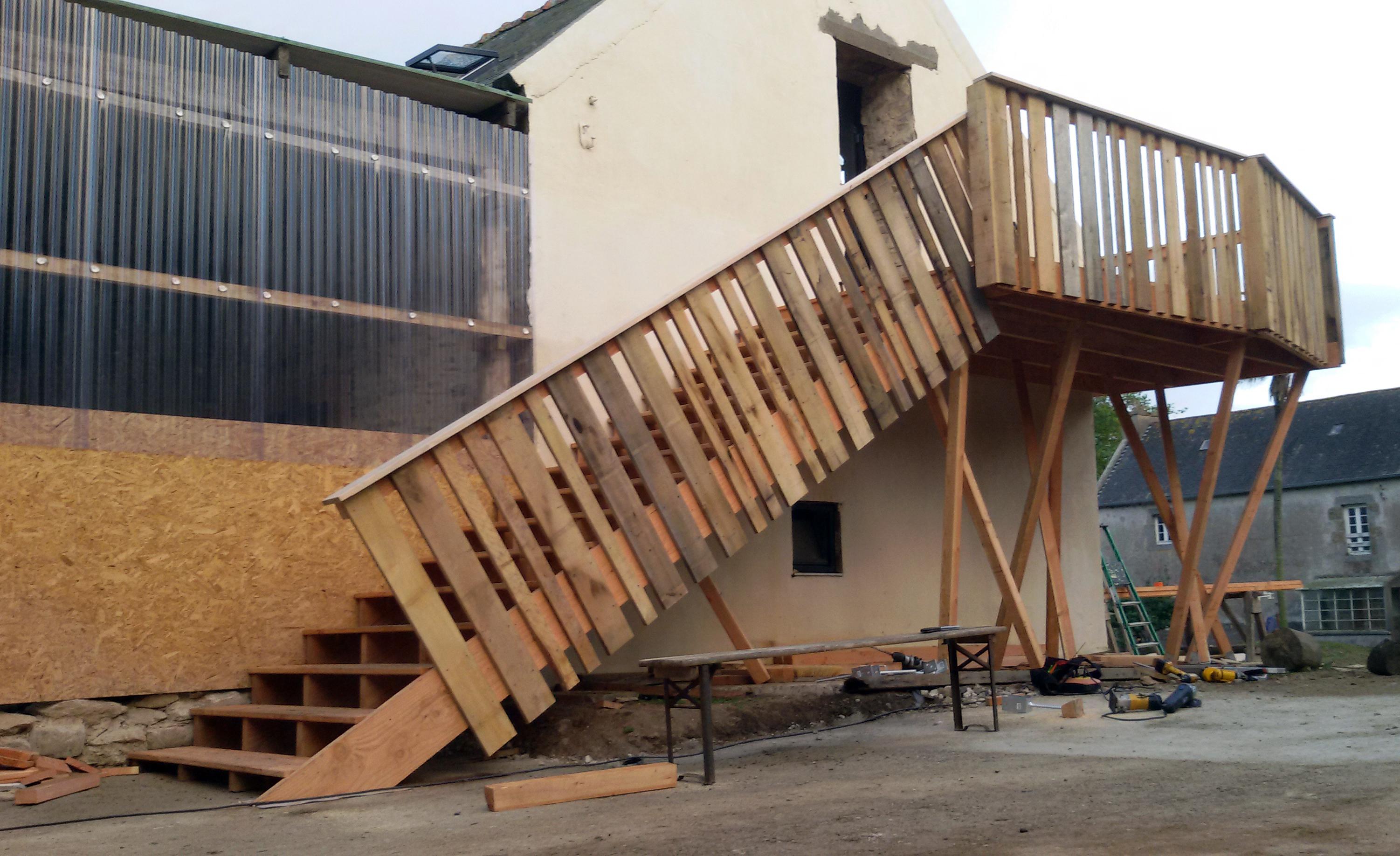Escalier Ferme de traon Bihan