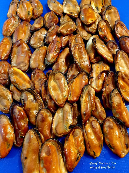 Hickory Woodchip  Smoked Mussels