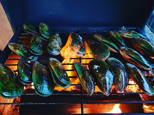 1kg NZ Green Lipped Mussels (whole shell)