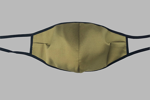 Double-Layer Face Mask - Chartreuse Silk/Wool