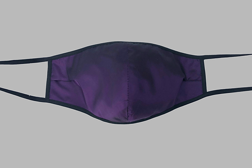 Double-Layer Face Mask - Purple Taffeta Silk
