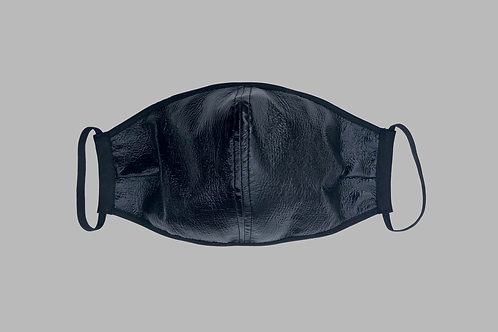 Double-Layer Face Mask - Black Vinyl