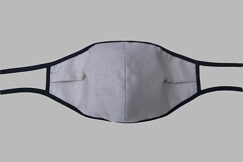 Double-Layer Face Mask - Light Beige Cotton