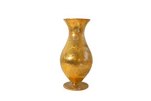 Vaso in vetro dorato