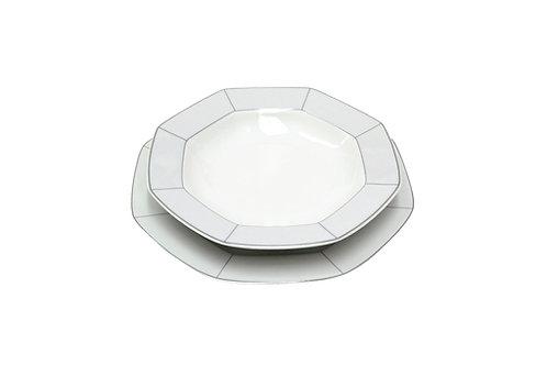 Servizio di piatti ottagonali