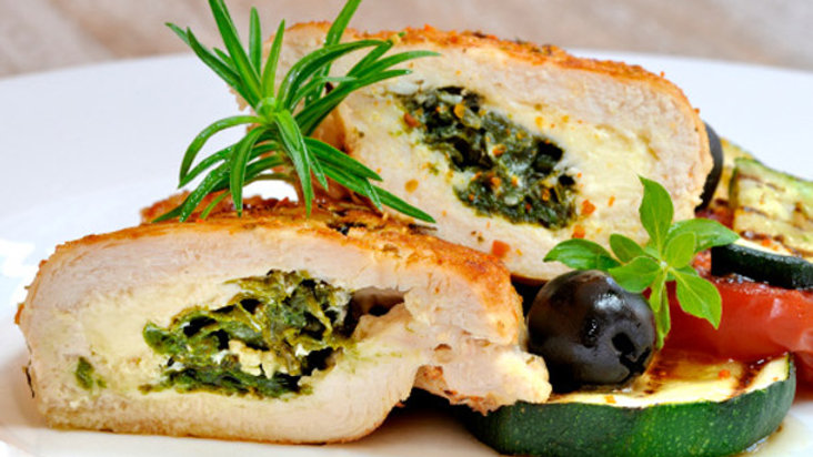 Ricotta & Spinach Stuffed Chicken Breast