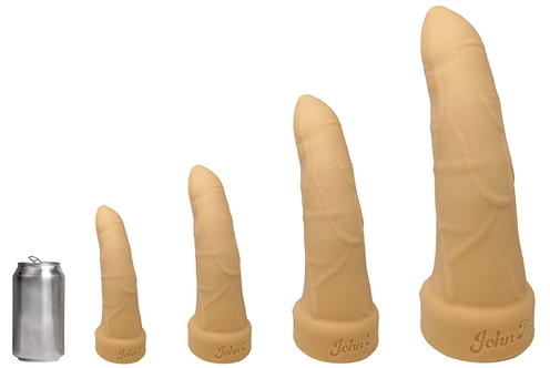 John Thomas® BULLY BOY Platinum Silicone Dildo