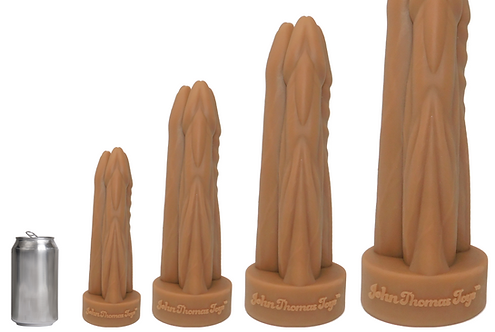 John Thomas® TOM, DICK and ZOLTOK Platinum Silicone Dildo