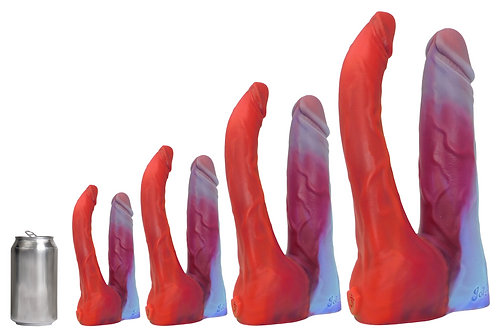 John Thomas® DOUBLE BUBBLE Platinum Silicone Dildo