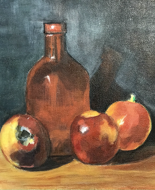 Three Apples and a Bottle
