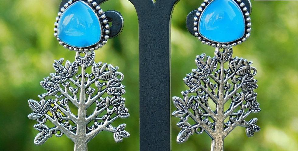 Fashionable stud top with Oxidise hanging earring