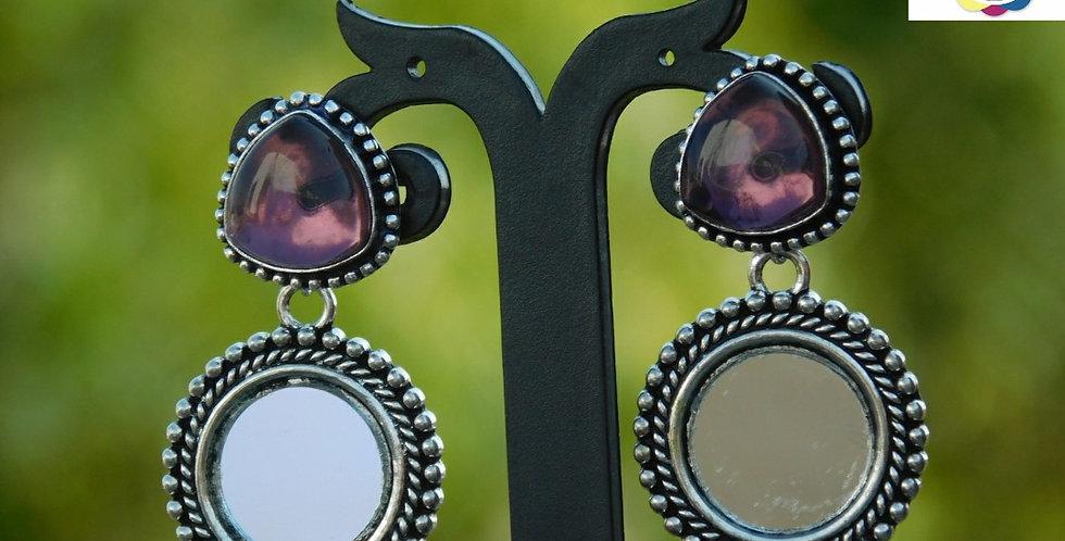 Fashionable Oxidise earrings with stud tops