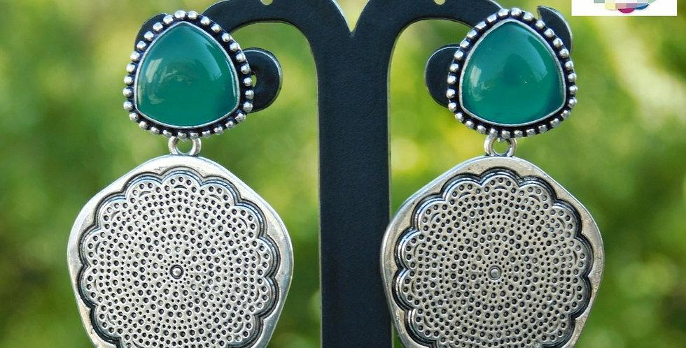 Fashionable stone stud tops with Oxidise hanging