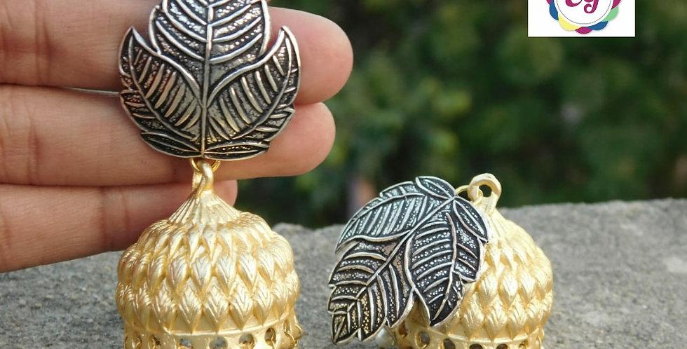 Dual tone earrings