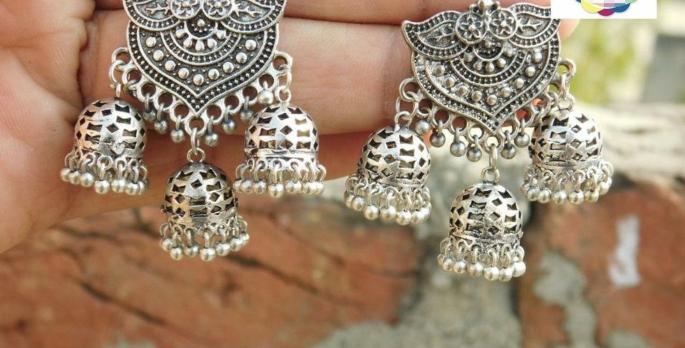 Oxidise earrings