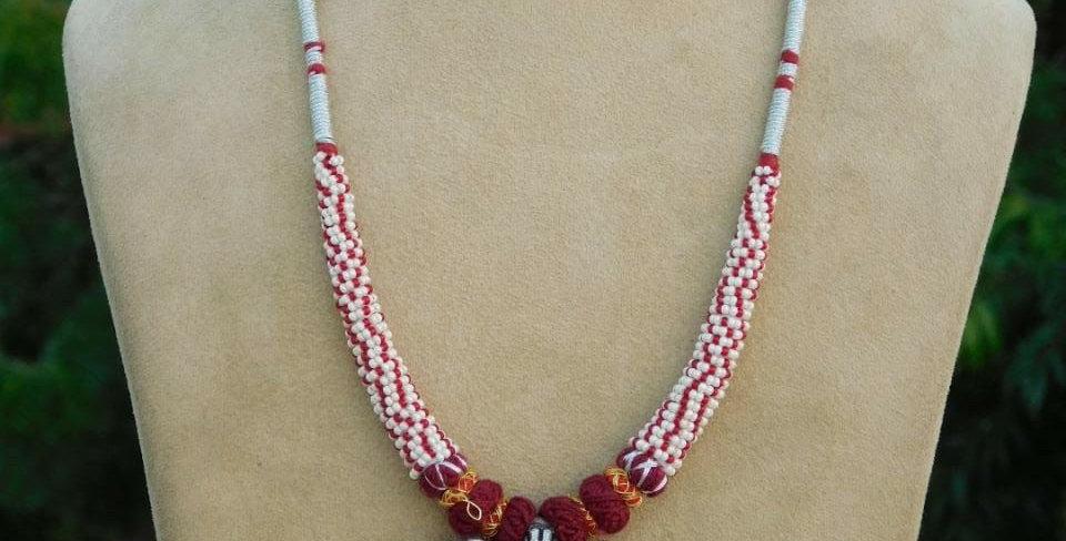 Ethnic oxidised necklace