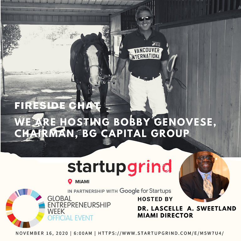 We are Hosting Bobby Genovese, Chairman, BG Capital Group