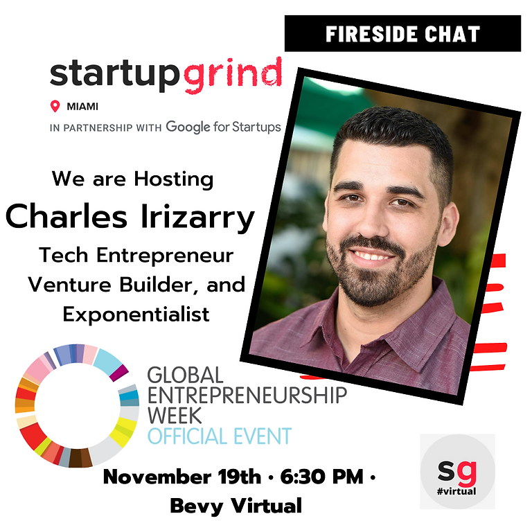 @ We are Hosting Charles Irizarry Tech Entrepreneur, Venture Builder, and  Exponentialist