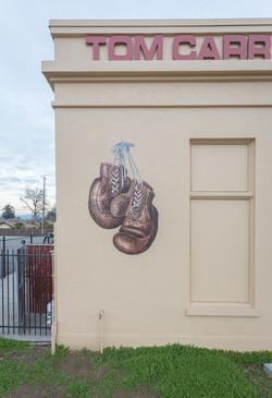 Boxing Center Mural Closeup