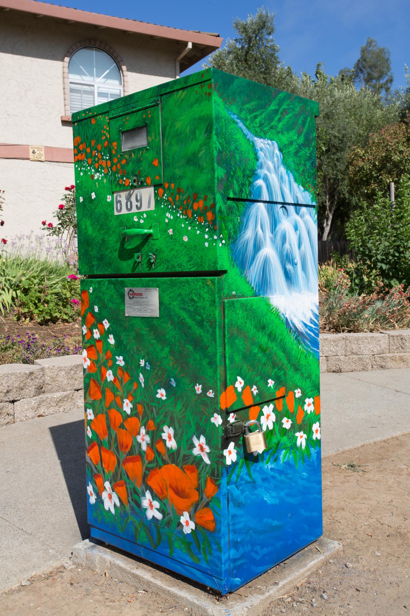 Utility Box Mural #3 Gilroy, CA