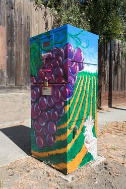 Utility Box Mural #2 Gilroy, CA