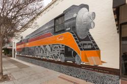 Daylight Train Mural 65'x26'