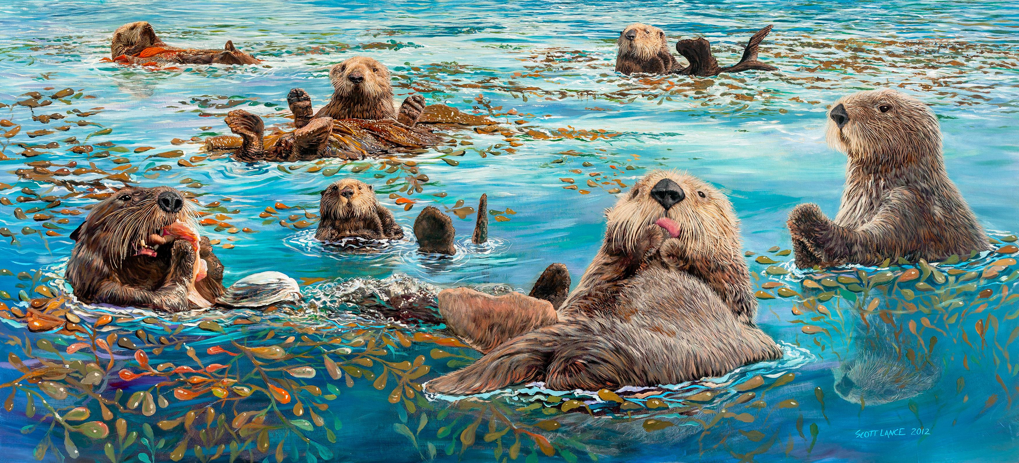 Otter Mural, Monterey, CA