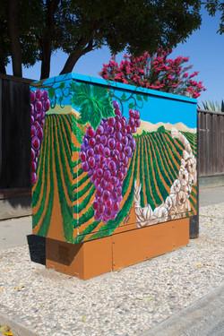 Utility Box Mural #1 Gilroy, CA