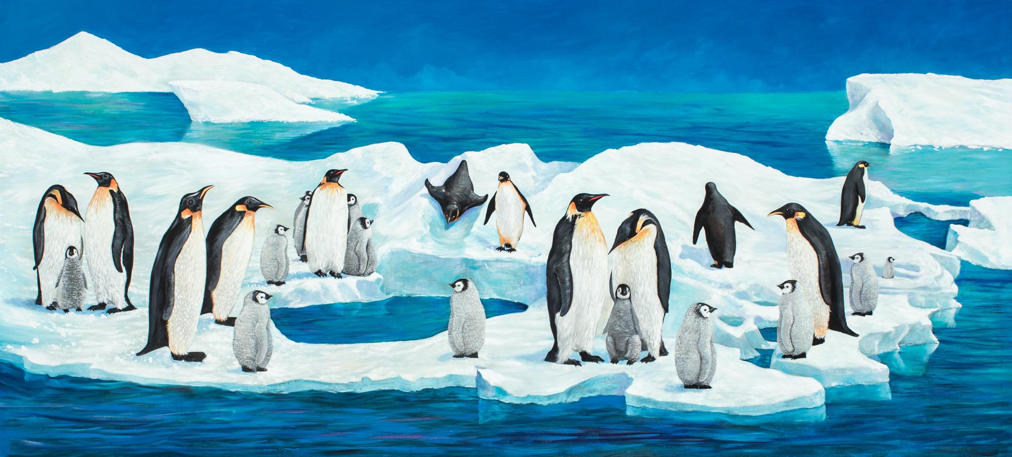 Penguin Mural, Monterey, CA